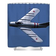Randy Ball's Mig-17f Banking Left Shower Curtain