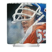 Randy Gradishar Shower Curtain by Don Medina