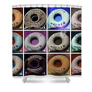 Randy's Donuts - Dozen Assorted Shower Curtain