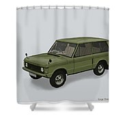 Range Rover Classical 1970 Shower Curtain