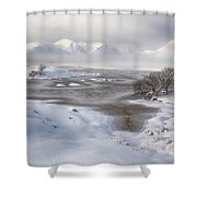 Rannoch Moor Winter Shower Curtain