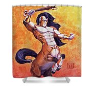 Ranting Centaur Shower Curtain