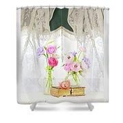 Ranunculus In Window Shower Curtain