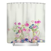 Ranunculus With Love In A Mist Shower Curtain