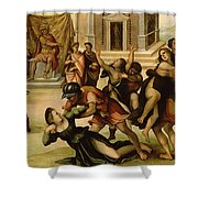 Rape Of The Sabines Shower Curtain