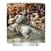 Raphael: Attilas Horsemen Shower Curtain
