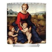 Raphael Madonna Of Belvedere  Madonna Del Prato  Shower Curtain