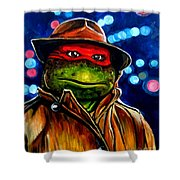 Raphael Ninja Turtle Shower Curtain