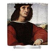 Raphael Portrait Of Agnolo Doni Shower Curtain