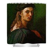 Raphael Portrait Of Bindo Altoviti Shower Curtain