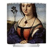 Raphael Portrait Of Maddalena Doni Shower Curtain