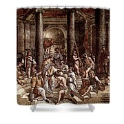 Raphael The Baptism Of Constantine Shower Curtain