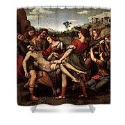 Raphael The Entombment Shower Curtain