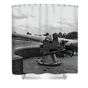 Rapid Fire Gun Shower Curtain