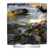 Rapids And Boulders Shower Curtain