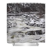 Rapids At Bull's Bridge 1 Shower Curtain