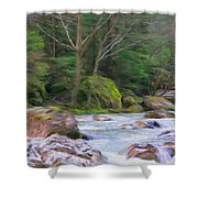 Rapids At The Rivers Bend Shower Curtain