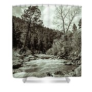 Rapids During Spring Flow On The South Platte River Shower Curtain