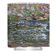 Rapids On The Petite Creuse At Fresselines, 1889 Shower Curtain