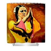 Raquel Heredia - Flamenco Dancer Sold Shower Curtain