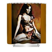 Raquel Welch - One Million Years B.c.  Shower Curtain