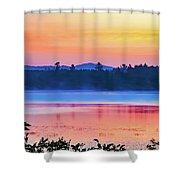Raquette Sunrise 2 Shower Curtain
