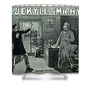 Rare Dr. Jekyll And Mr. Hyde Transformation Poster Shower Curtain