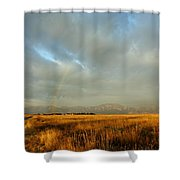rare Morning Rainbow Shower Curtain