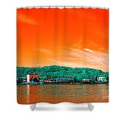 Raritan River Pop Art Shower Curtain