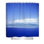 Rarotonga Aerial Shower Curtain