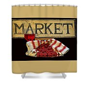Raspberries At The Market Shower Curtain