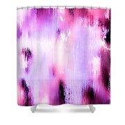 Raspberry Baret Shower Curtain