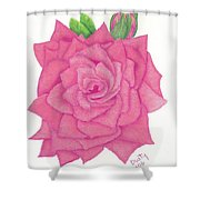 Raspberry Pink Shower Curtain