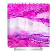 Raspberry Slope Shower Curtain
