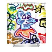 Rat Doodle Shower Curtain