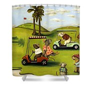 Rat Race 2  At The Golf Course Shower Curtain