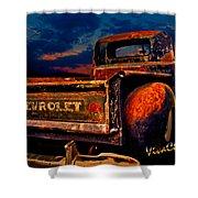 Rat Rod Chevy Truck Shower Curtain