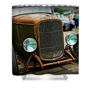 Rat Rod Roadster Shower Curtain
