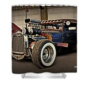 Rat Rod Scene Shower Curtain