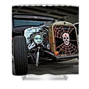 Rat Rod Style Shower Curtain