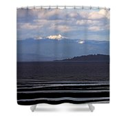 Rathtrevor Beach On Vancouver Island In British Columbia Shower Curtain