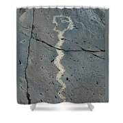 Rattlesnake Petroglyph 2 Shower Curtain