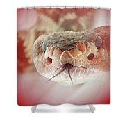 Rattlesnake Red Shower Curtain