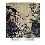 Raven Beauties Shower Curtain