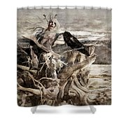 Raven Berry Shower Curtain