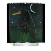 Raven By Moonlight No. 2 Shower Curtain