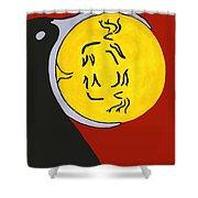Raven Elk Moon  -013 Shower Curtain