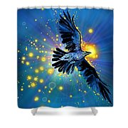 Raven First Bird Shower Curtain