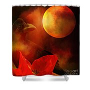 Raven Moon And Poppy 2 Shower Curtain