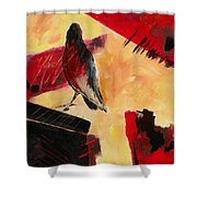 Raven Morgan 007 Shower Curtain